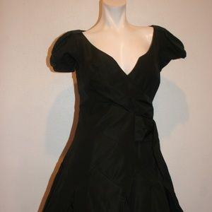 KAREN MILLEN ENGLAND FIT & FLARE BUBBLE DRESS